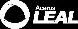 Logotipo Aceros Leal blanco